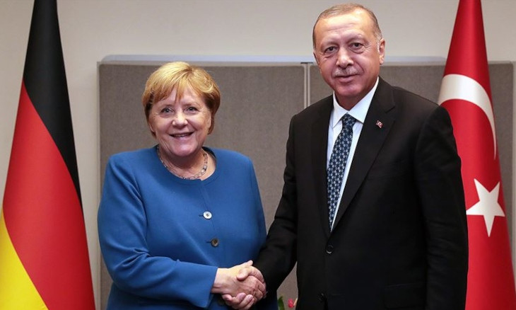 Eastern Med crisis can be solved if EU adopts a 'fair' approach, Erdoğan tells Merkel