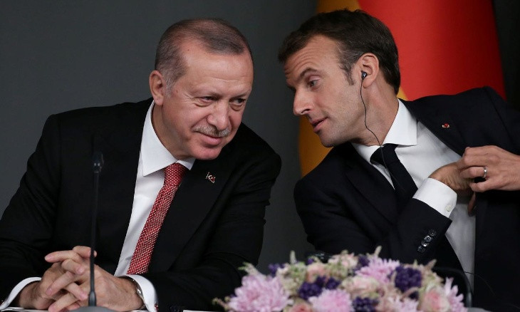 Erdoğan urges Macron to be 'constructive' over east Med tension