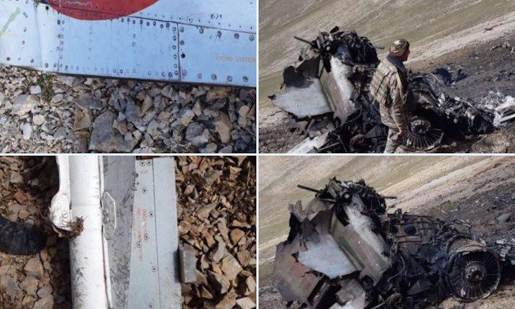 Armenia publishes photos of wreckage it says is SU-25 warplane shot down by Turkish F-16 jet