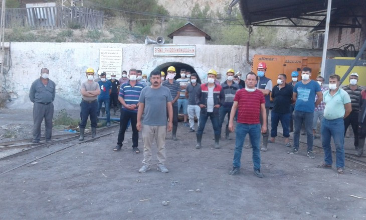 Miners in central Anatolian province on strike after not being paid for 13 months