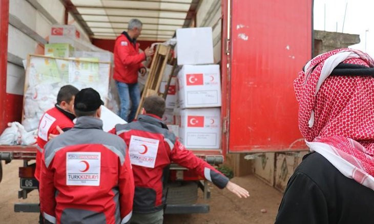 Turkish Red Crescent vehicle comes under attack in northern Syria, one killed