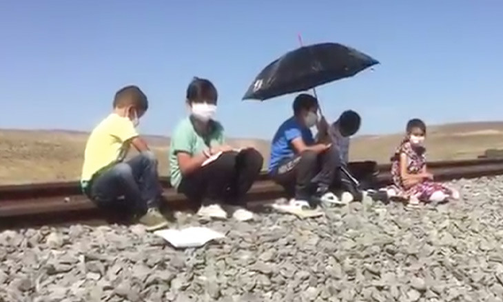 Students in eastern Turkey walk miles to access internet necessary to attend remote education