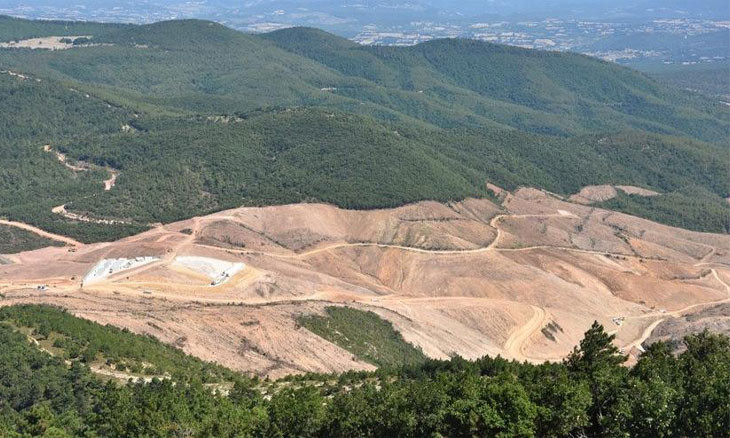 Pro-gov't firm's copper mine risks destroying three villages in Turkey's Kaz Mountains