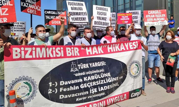 Turkish workers on day 894 of protest against US company Cargill
