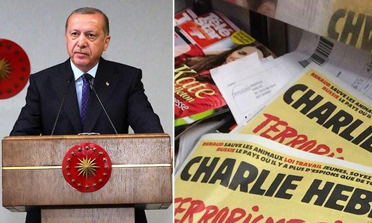 Erdoğan says he didn't see Charlie Hebdo cartoon about him, as Ankara launches probe into magazine