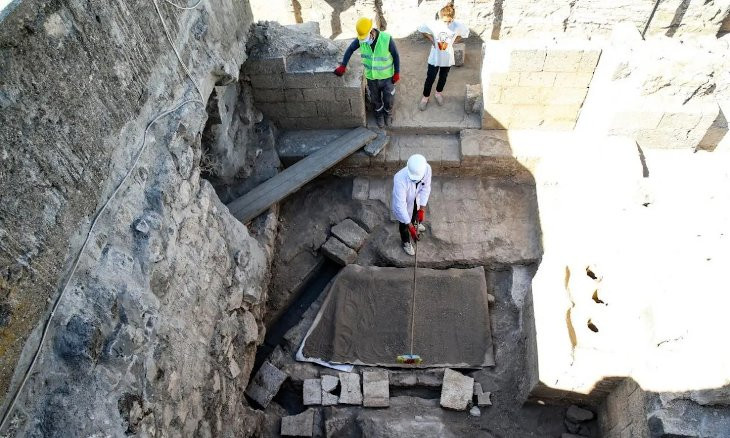 1800-year-old heating system discovered in Diyarbakır archaeological site