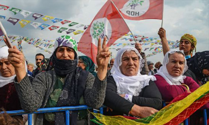Summary of proceedings prepared against 18 HDP deputies over attending protests, saying 'Kurdistan'