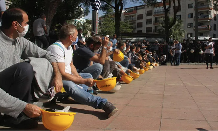 Deceased mine worker's son marches to Ankara to claim damages overdue by 18 yrs