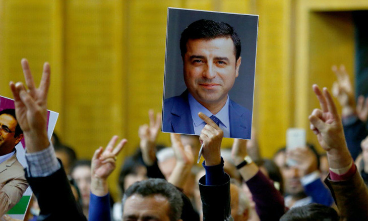 The plot hatched against the HDP over Kobane