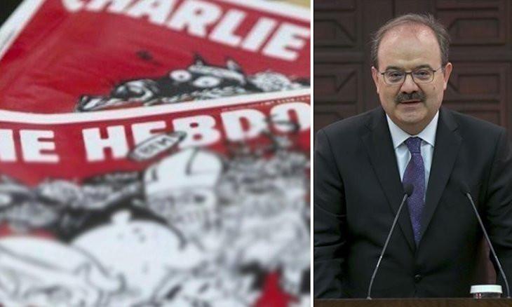 Turkey's deputy culture minister calls Charlie Hebdo 'bastards, sons of bitches' after Erdoğan cartoon