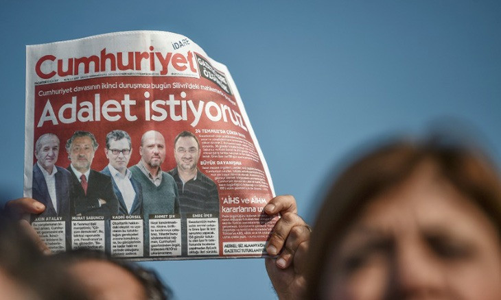 Turkey violated former Cumhuriyet journalists' rights, top Europe rights court rules