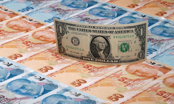 Turkish lira hits another record low, down over 30 pct against dollar this year