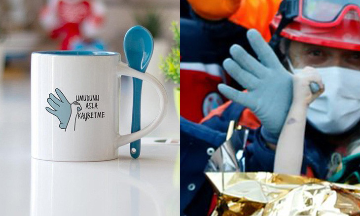'Capitalism at its best': Sale of mug displaying toddler's rescue after İzmir quake causes uproar
