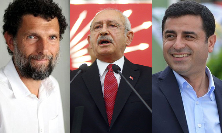 Kavala, Demirtaş and Bilgen are kept unjustly in prison, CHP leader says