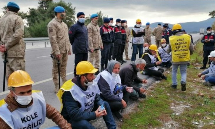 Soma miners' march to Ankara in demand of severance pay faces harsh police resistance once again
