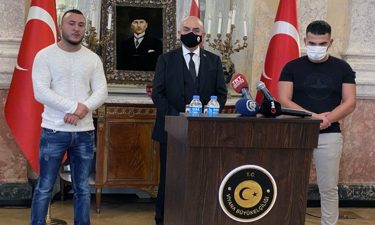 Turkish government praises 'two heroes' who helped victims during Vienna attack